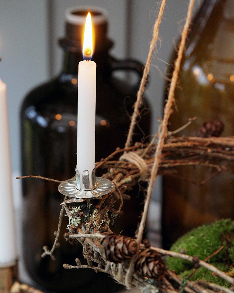 DIY – tee itse oma kynttiläkranssi